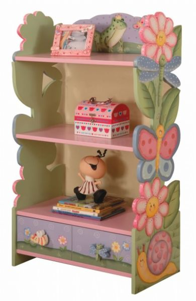 Children's Teamson Magic Garden Book Shelf With Drawers